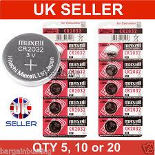 5, 10, 20 Genuine Maxell CR2032 3V Lithium Button/Coin Cells batteries UK Seller
