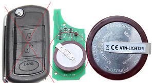 3V 1x Panasonic Akku VL2330 Für Klappschlüssel  LAND ROVER DISCOVERY 3 RANGE A59