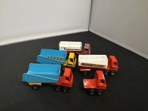B965-MATCHBOX SUPERFAST LOT OF FIVE CABS AND FOUR TRAILERS/TANKERS