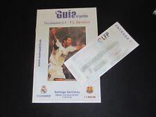 2001 Real Madrid/FC Barcelone + Ticket Stub