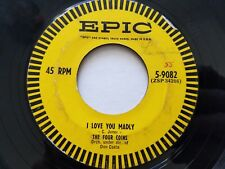 """THE FOUR COINS - Maybe / I Love You Madly 1954 EPIC POP VOCAL 7"""""""