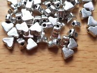 25/50/100 Tibetan Silver small 6mm x 5mm HEART BEADS Spacer- Jewellery making