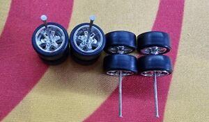 1/64 Rubber Wheels 2 set Pack Real Rider Hot Wheels Matchbox JDM Mazda Nissan b4
