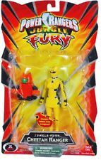"Power Rangers Jungle Fury 5"" Yellow CHEETAH Ranger New Factory Sealed 2007"