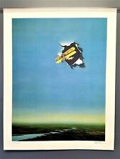 """""""Biplane"""" David Mann Abstract Aviation Art Print, Hand Signed Numbered airplane"""