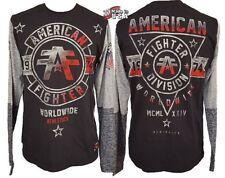 NWT AFFLICTION American Fighter Black Long Sleeve T-Shirt Mens Medium UFC MMA