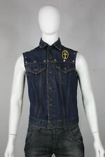 vintage Levis big E denim vest jacket S 60's custom jean blue harley davidson