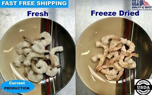 Freeze Dried Raw Peeled & Deveined Shrimp Camping Hiking Survival Storage Food
