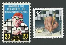 MAD Magazine Sid Grid Parody and Creation of First Crossword Puzzle Stamps MINT!