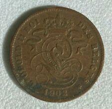 Monnaie BELGIQUE LEOPOLD II Roi des Belges 20 centimes 1902