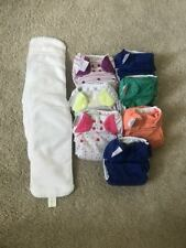 7 bumGenius 4.0 pocket style cloth diapers, assorted colors