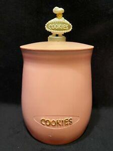 Vintage PINK Plas-Tex Corp Large 1950's Cookie Jar Hollywood CA MCM Kitchen NR!