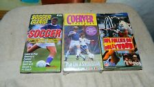 COERVER COACHING SOCCER + SOCCER CLINIC + NFL FOLLIES HOLLYWOOD VHS FREE US SHIP