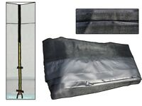 Trampolin Sicherheitsnetz 214x305 cm PVC sleefs Reißverschluss 4 beinen rechteck