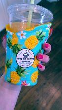 Snug as a mug.Handmade Coffee Cozy.Coffee Sleeve.Reusable. Jumbo Pineapple
