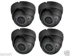 4pcs HD CVI 1080P Dome Camera 2MP HDCVI Sony CMOS, Varifocal 2.8-12mm 36 IR GRAY