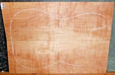 Flame Curly Maple Wood 8298 Luthier 5A Guitar CARVED Top Set 23 x 16 x 3/4