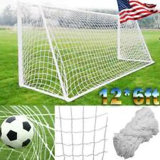 12 X 6FT PE Football Soccer Goal Post Net Sports Training Practice Outdoor USA