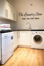 The Laundry Room Wash Dry Fold Repeat wall art sticker Home Kitchen