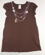 Gymboree Cowgirls At Heart Brown Necklace Tunic Top Size 5 EUC