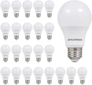 Sylvania General Lightning Soft White 2700K 60W, A29 LED Light Bulb, 24 Pack