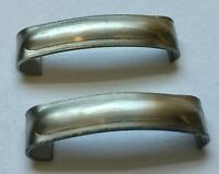 1935 1936 FORD CAR & TRUCKS Windshield Frame Joint Cover Pair SS FREE SHIP