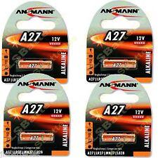 4 x ANSMANN A27 MN27 27A 12v Alkaline Batteries E27A EL812 L828 G27A