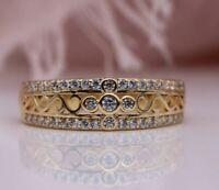Ring Gr.50 56 53 60 Fingerring Gold gefüllt Roségold 585 Zirkonia rosé Goldring