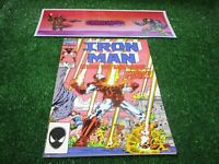 vtg invincible Iron Man 207 Marvel Comic book 1st print