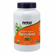 Now Foods Certified Organic Spirulina 500mg 500 Tablets