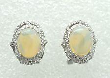 OPAL Ohrstecker  Opal & Cz 925 Sterling Silber