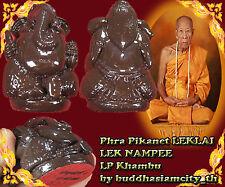 LEKLAI LEK NAMPEE Phra Pikanet Stute LP Khambu Old Thai amulet Buddha Antique