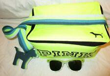 New listing Victoria Secret Pink Neon Lunch Beach Cooler & Mini Dog Key Chain Sunglasses