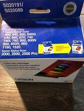 Genuine Epson Stylus Color Ink Cartridges S020191 Stylus 400 440 600 600Q 640