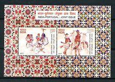 India 2017 MNH Traditional Dance Pauliteiros Dandiya JIS Portugal 2v M/S Stamps
