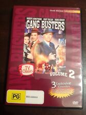 GANG BUSTERS Vol 2 Robert Armstrong Kent Taylor New Unsealed B&W DVD R4