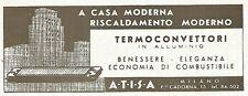 Y2230 A.T.I.S.A. termoconvettori in alluminio - Pubblicità del 1942 - Old advert
