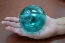 "Aqua Blue Reproduction Blown Glass Float Fishing Buoy Ball 3"" F-5A"