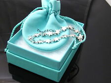 AUTHENTIC EUC TIFFANY & CO STAR LINK BRACELET PACKAGING BOX POUCH CARD