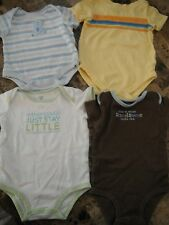 baby boys 4 PIECE LOT carters SPROCKETS 1 piece outfits ROMPERS 0-3 6 months