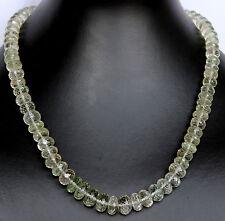 PRASIOLITH Cadena,cadena de piedras preciosas,AAA Calidad,verde amatista Joya