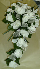 -MANY COLOURS DJO2 WEDDING FLOWERS  BRIDAL BOUQUET  ROSES