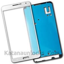 Vitre écran Samsung Galaxy Note 3 N9000 N9005 Blanc avec Adhésif Front Glass