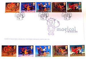 GREAT BRITAIN MAGICAL WORLDS STAMPS SET + FDC 1998 TOLKIEN LORD OF RINGS HOBBIT