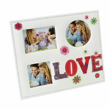 LOVE Multi  Photo Frame Wedding Anniversary or Engagement Gift