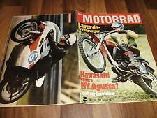 MOTORRAD vom 23.1.1971 -- KAWASAKI vs MV AGUSTA / LAVERDA GT 750 ccm Erfahrung