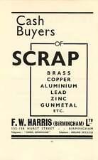 1937 Et Naftalin Matthews Wood Newport Fw Harris Birmingham Scrap Ad
