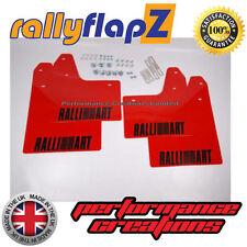 Rally Mudflaps Mitsubishi Evo 5 & 6  Mud Flaps Red PVC BLACK Logo Set of 4