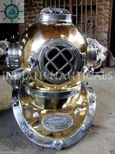 Boston Navy Divers Mark V Brass/Aluminum Diving Helmet Marine Deep Sea