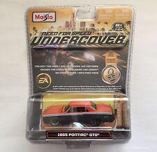 Maisto Need For Speed Undercover 1965 '65 Pontiac GTO Orange/Gray Die-cast 1/64